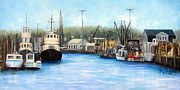 Leonardo Ruggieri Framed Prints - Belford Fishing Seaport NJ Framed Print by Leonardo Ruggieri