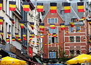 Bruxelles Art - Belgian Flags in Brussels by Carol Groenen