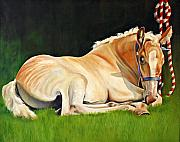 Belgian Paintings - Belgian Horse Foal by Toni Grote