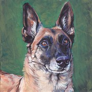 Belgian Paintings - Belgian Malinois by Lee Ann Shepard
