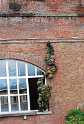 Ledge Photos - Belgian Paratroopers Rappelling by Luc De Jaeger