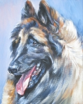 Sheepdog Paintings - Belgian Tervuren by L A Shepard