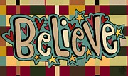 Blanket Mixed Media Prints - Believe Print by Jennifer Heath Henry