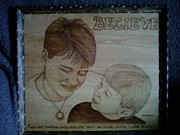 Believe Pyrography - Believe by Mark Padgett