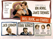 1950s Movies Framed Prints - Bell Book And Candle, Top Kim Novak Framed Print by Everett