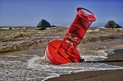 Storm Warning Prints - Bell Buoy Print by Garry Gay