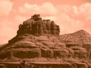 Sedona Prints - Bell Mountain Sedona AZ Print by Laura Brightwood