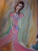 Evening Dress Painting Originals - Bell of the ball by Judith Desrosiers