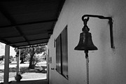 Uruguay Framed Prints - bell outside a small historic typical farm in Colonia Del Sacramento Uruguay South America Framed Print by Joe Fox