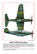 Taliaferro Framed Prints - Bell P39Q Airacobra Framed Print by Jerry Taliaferro