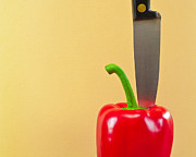 Splitting Prints - Bell pepper Print by Tom Gowanlock