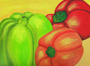 Pepper Paintings - Bell Peppers by Jose Valeriano