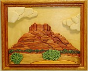 Intarsia Sculpture Framed Prints - Bell Rock-2 Framed Print by Russell Ellingsworth