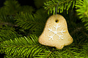 Advent Framed Prints - Bell shape short bread cookie Framed Print by Ulrich Schade