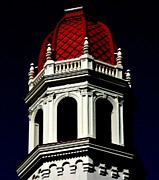 Red Tile Roof Posters - Bell Tower 1 Poster by Randall Weidner