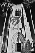 Lynda Dawson-youngclaus Photographer Framed Prints - Bell Tower B-W Framed Print by Lynda Dawson-Youngclaus