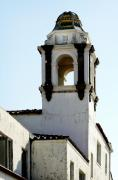 Peeling Stucco Posters - Bell Tower in Santa Cruz Poster by Marilyn Hunt