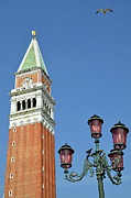 Antique City Framed Prints - Bell Tower on San Marco Piazza Framed Print by Sami Sarkis