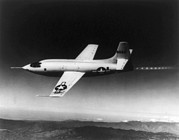 X-plane Prints - Bell X-1 Rocket Plane In Which Chuck Print by Everett