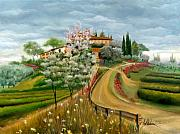 Villa Paintings - Bella Collina by Leah Wiedemer
