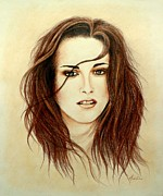 Twilight Drawings Prints - Bella Print by Lena Day