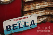 Old Chevy Truck Prints - Bella License Plate Print by Carol Groenen