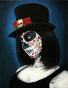 Girl Paintings - Bella Muerte by Al  Molina