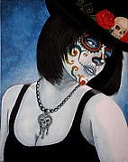 Mexican Holiday Prints - Bella Muerte Returns II Print by Al  Molina