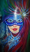 Mardi Gras Paintings - Bella by Vera Lowdermilk