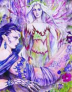 Fantasy Art Framed Prints - Belladona from the Fiary Collection Framed Print by Morgan Fitzsimons