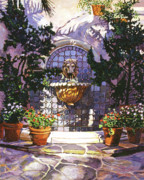 Popular Paintings - Bellagio Fountain by David Lloyd Glover