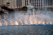 Pattern Photo Framed Prints - Bellagio Fountain Patterns 1 Framed Print by Andy Smy