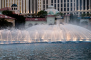 Bellagio Fountain Patterns 2 Hotel Casino Fountains Las Vegas Nevada Print by Andy Smy