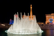 Las Vegas Prints - Bellagio Fountains Night 2 Print by Andy Smy