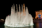 Bellagio Fountains Night 3 Print by Andy Smy