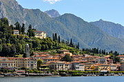Northern Italy Framed Prints - Bellagio Harbor Framed Print by Michael Biggs