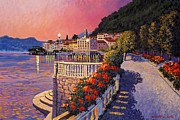Bellagio Lake Como Print by Santo De Vita