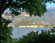 Lake Como Art - Bellagio Thru the Trees by Marilyn Dunlap