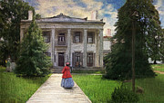 Mansion Digital Art Prints - Belle Meade Plantation Print by Lianne Schneider