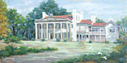 Historic Home Painting Prints - Belle Meade Plantation Print by Sandra Harris