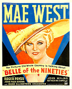 1930s Poster Art Posters - Belle Of The Nineties, Mae West, 1934 Poster by Everett