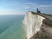 Sea Photography Photos - Belle Tout Lighthouse, East Sussex. by Philippe Cohat