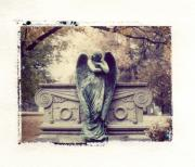Linders Posters - Bellefontaine Angel Polaroid transfer Poster by Jane Linders