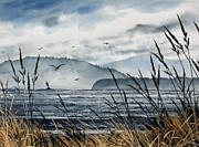 Maritime Greeting Card Painting Originals - Bellingham Bay by James Williamson