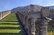 World Heritage Site Posters - Bellinzona - Castelgrande Poster by Joana Kruse