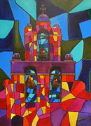 San Antonio Paintings - Bells Of San Jose II by Patti Schermerhorn