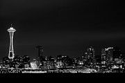 Seattle Waterfront Prints - Belltown & Space Needle Print by Andrew A Smith