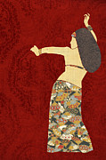 Shimmy Posters - Belly Dancer 12 Poster by Janet Carlson
