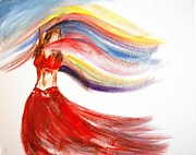 Belly Dance Paintings - Belly Dancer 2 by Julie Lueders