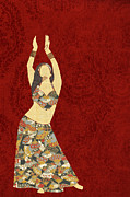 Harem Digital Art Posters - Belly Dancer 3 Poster by Janet Carlson